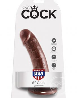 King Cock Realistic Cock Brown 6 Inch