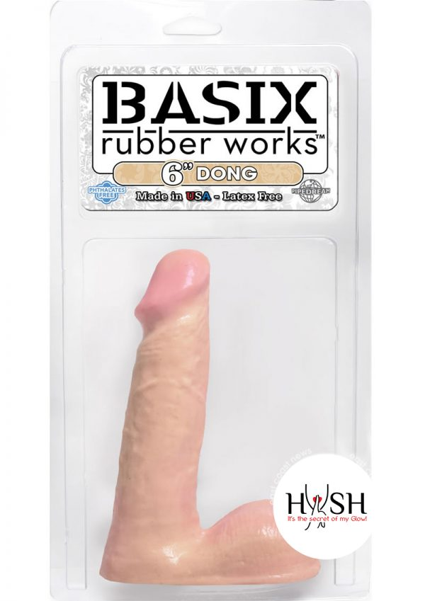 Basix Rubber Works 6 Inch Dong Flesh