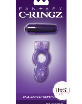 Fantasy C-Ringz Vibrating Ball Banger - Purple