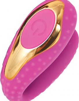 Surenda Enhanced Oral Vibe Silicone Waterproof Pink Gold
